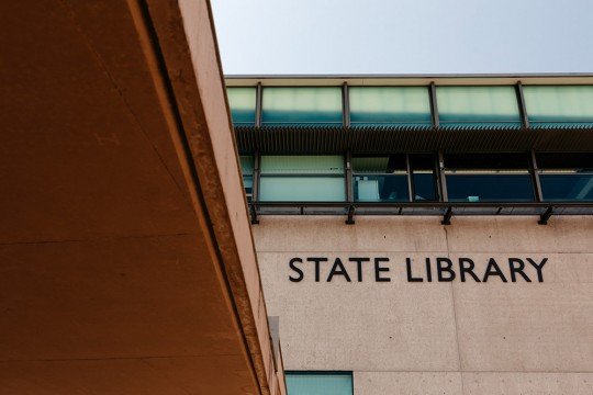 State Library building sign