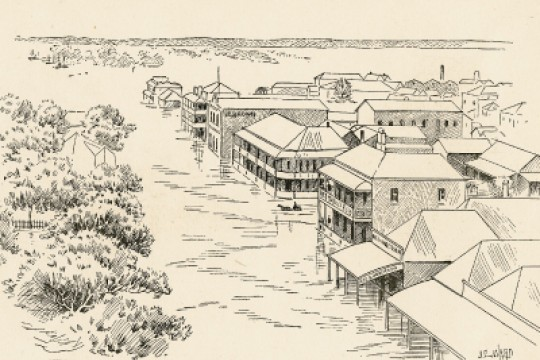 Souvenir of floods Southern Queensland February 1893 - Wharf Street Maryborough