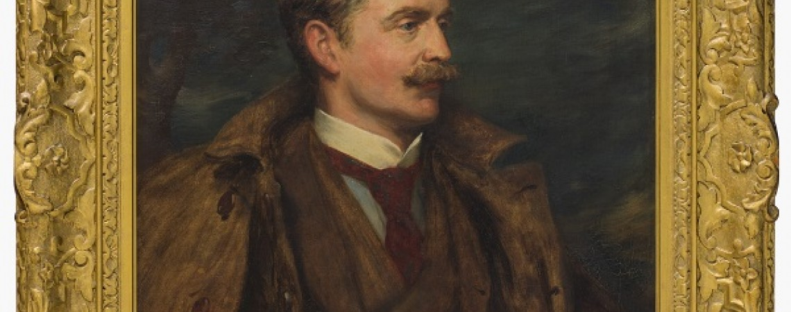 Portrait painting in gold frame of Charles Cochran-Baillie, 2nd Baron Lamington [Work of Art] 1895, by Robert Duddingstone Herdman,