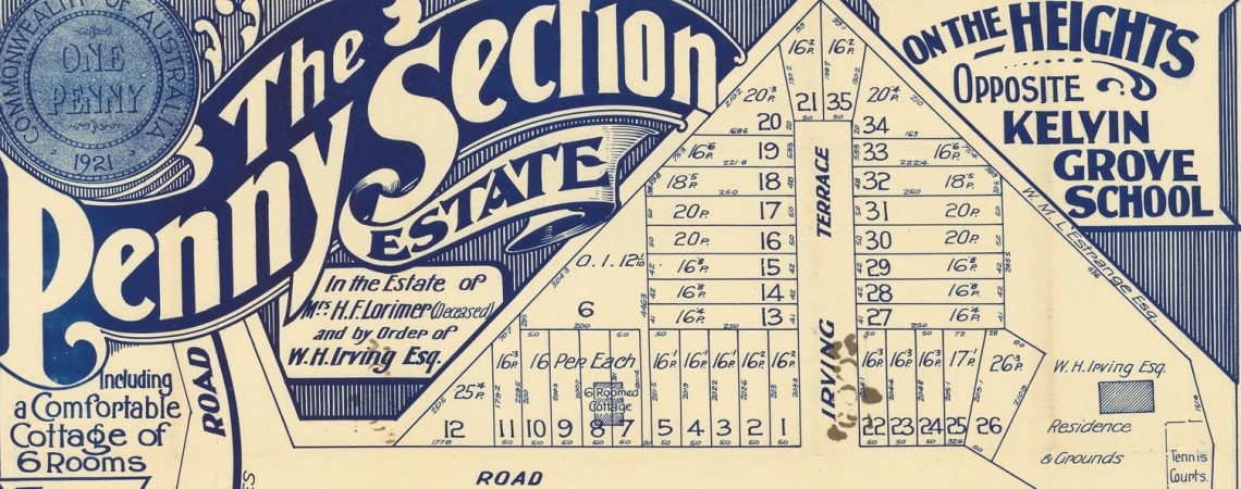 Estate Map of Penny Section at Kelvin Grove