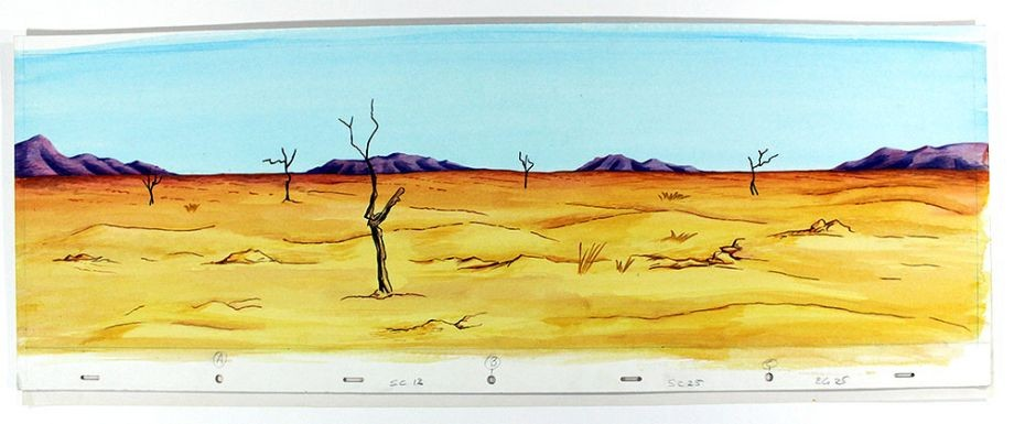 Watercolour artwork of Australian desert by Jeffrey Samuels