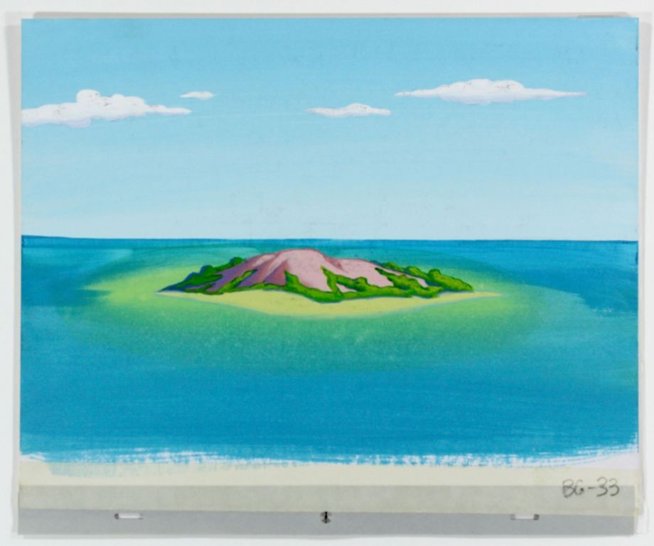 Acrylic artwork of island from Goonda Dani  Booloo