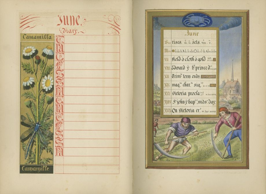 The Illuminated Calendar and Home Diary for 1845 by Humphreys H 1844