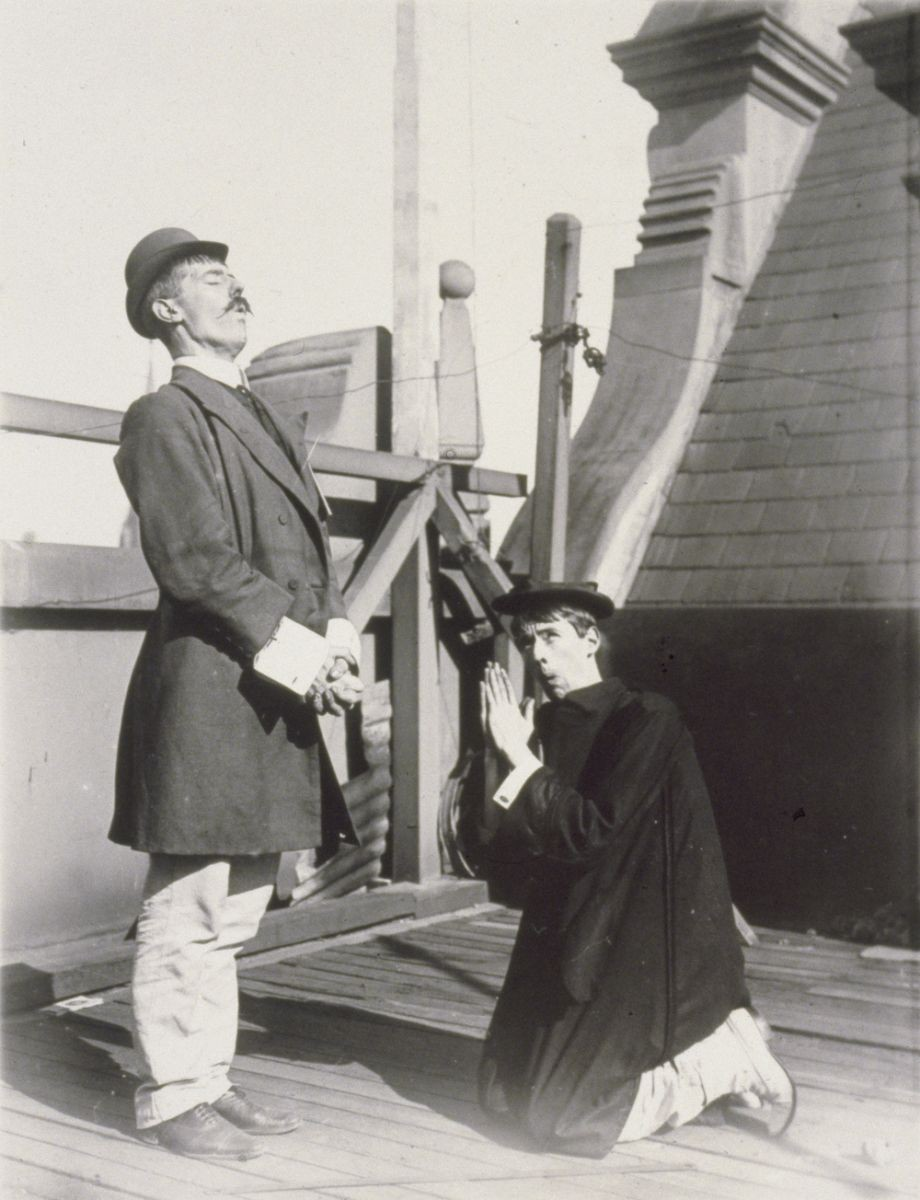 Photograph of Lionel and Norman Lindsay play acting Acc 6067