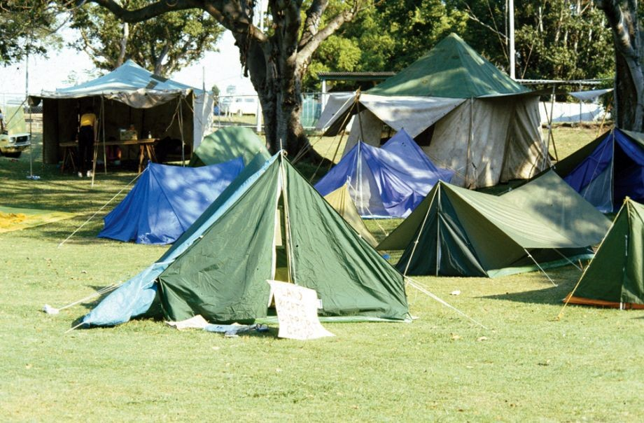 Tent city at Musgrave Park 1982