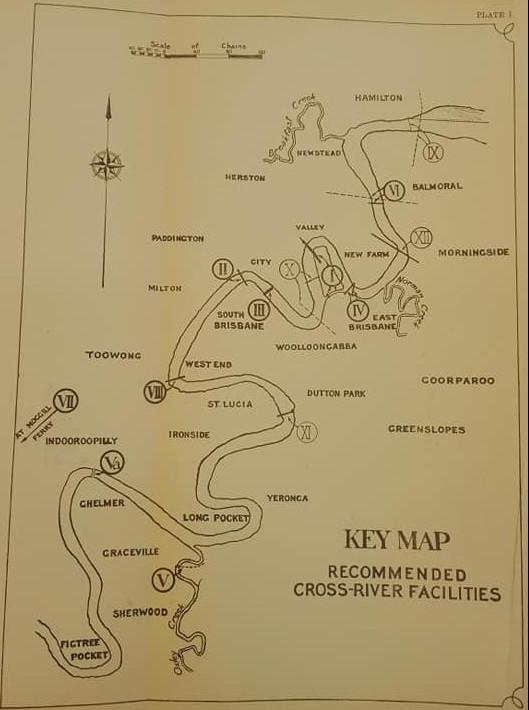 Recommended cross-river facilities map 1926