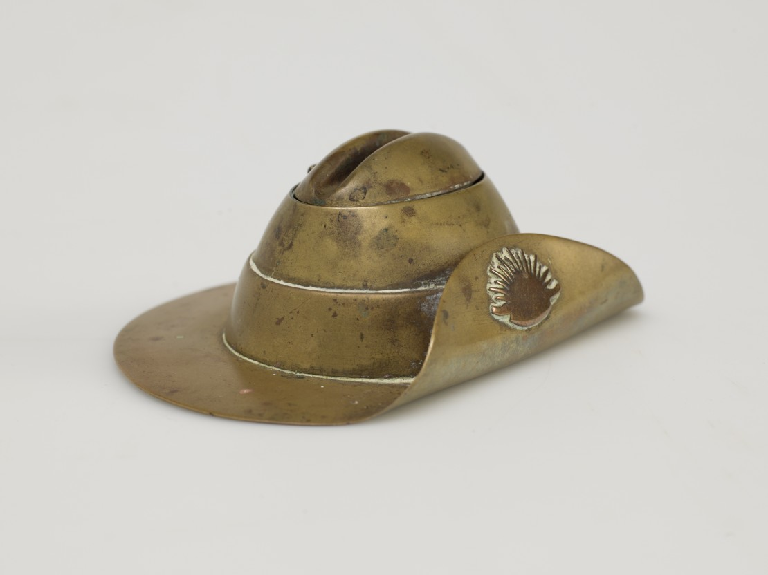 Slouch Hat Trench Art 1914-1918 John Oxley Library State Library of Queensland Image 30674-0073-0002
