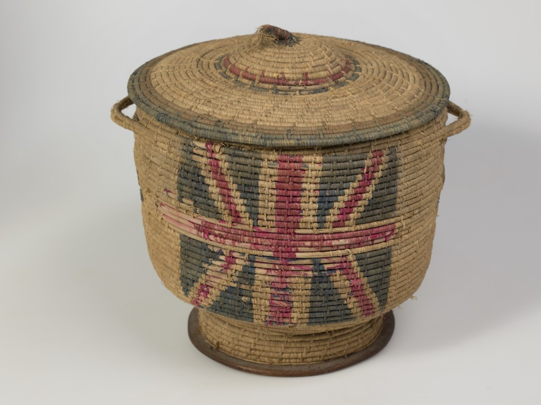 Wicker Basket woven by a Turkish prisoner of war and acquired by Sister Constance Keys while stationed in Egypt during the First World War John Oxley Library State Library of Queensland Image  30674-0074-0001