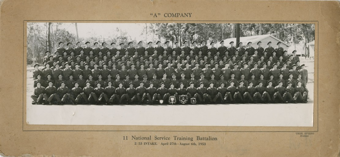 A group of national service training recruits