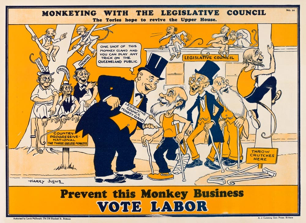 Monkeying with the Legislative Council ca 1926 Harry Julius