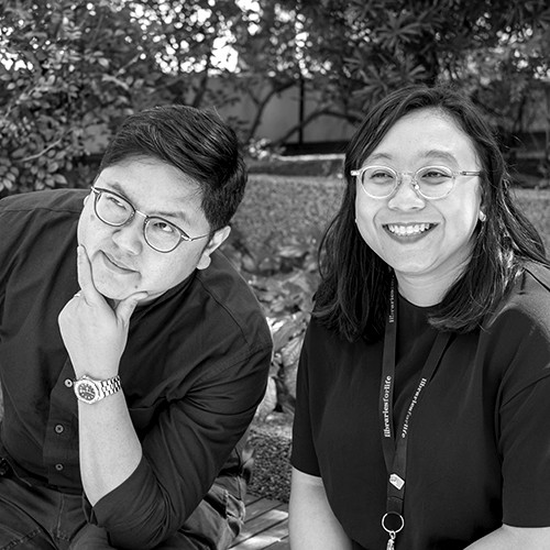A portrait photo of Stanley Tan and Siti Fatimah Taib