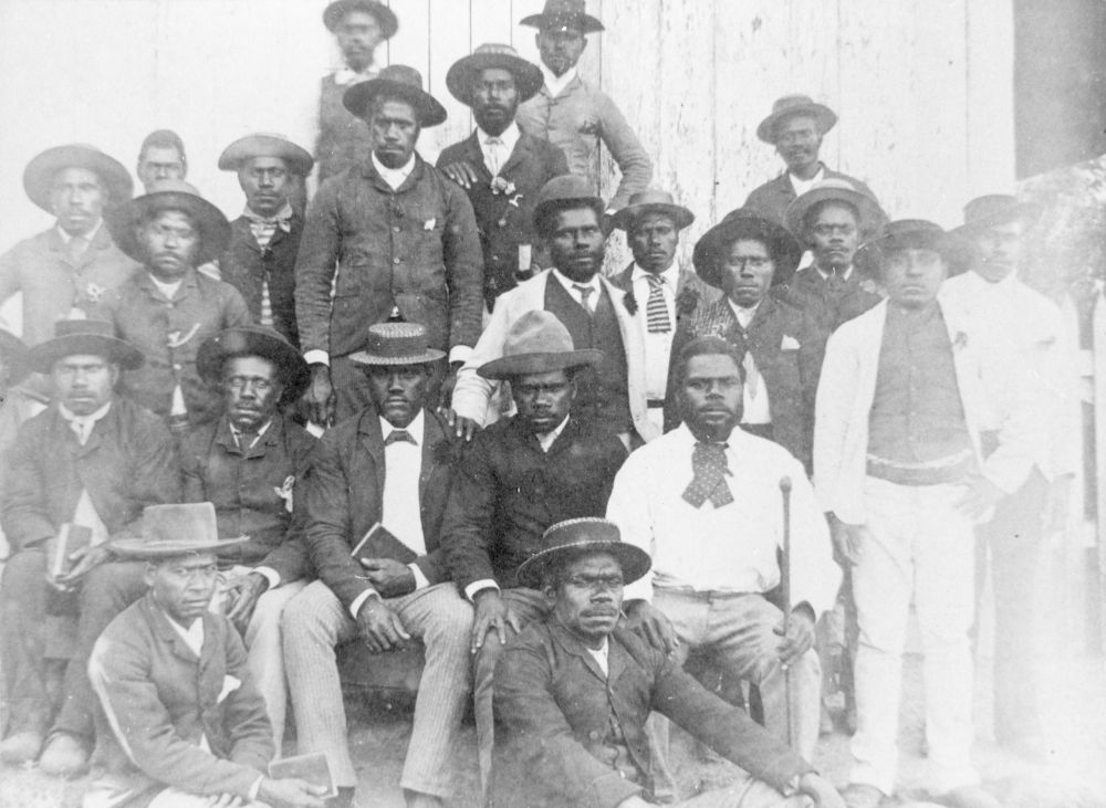 Australian South Sea Islanders at Otmoor sugar plantation in Upper Coomera Queensland ca 1889