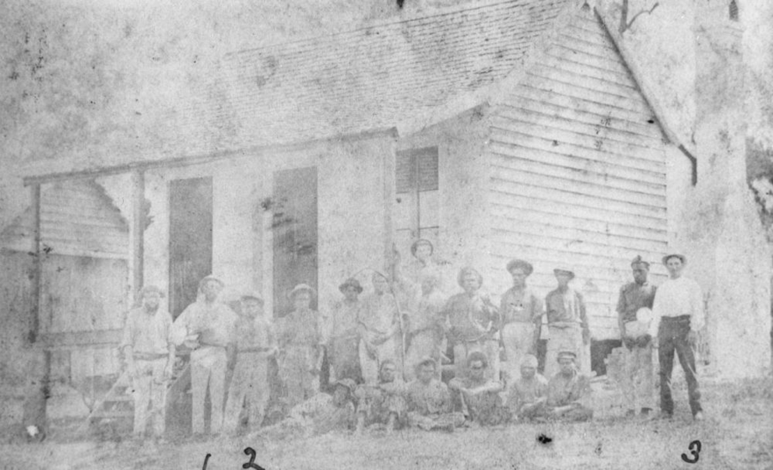 Australian South Sea Islanders at Windaroo sugar plantation Logan City Queensland ca 1890  Photographer unknown John Oxley Library State Library of Queensland Negative no 190513
