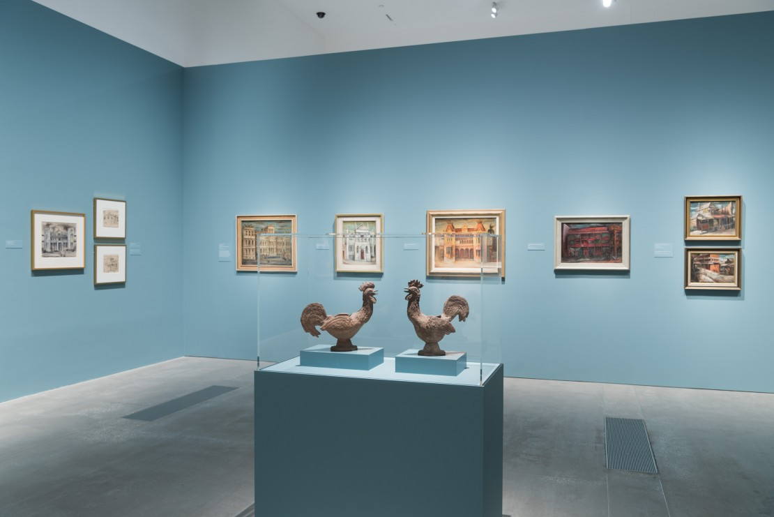 Two Margaret Olley works on display at Gallery of Modern Art in Brisbane