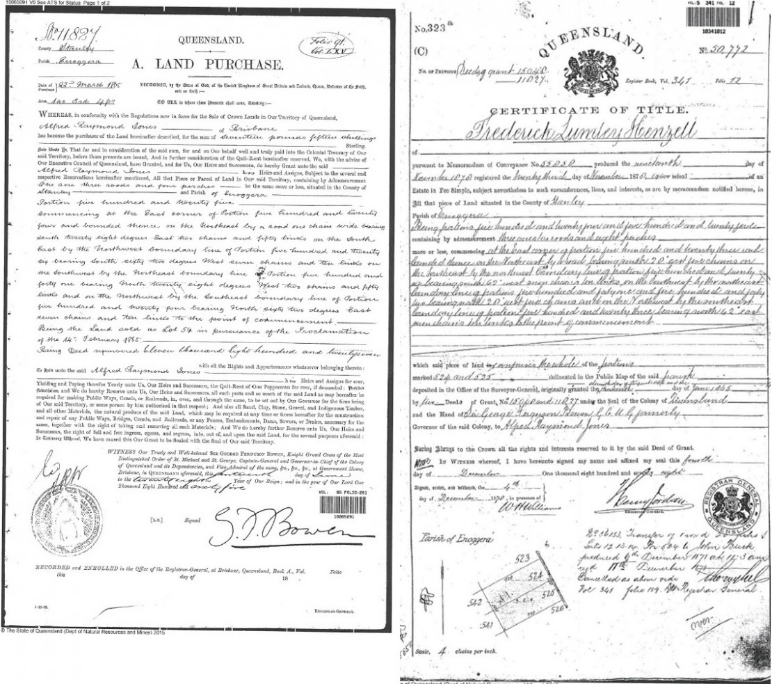 Example of historical Title Documents