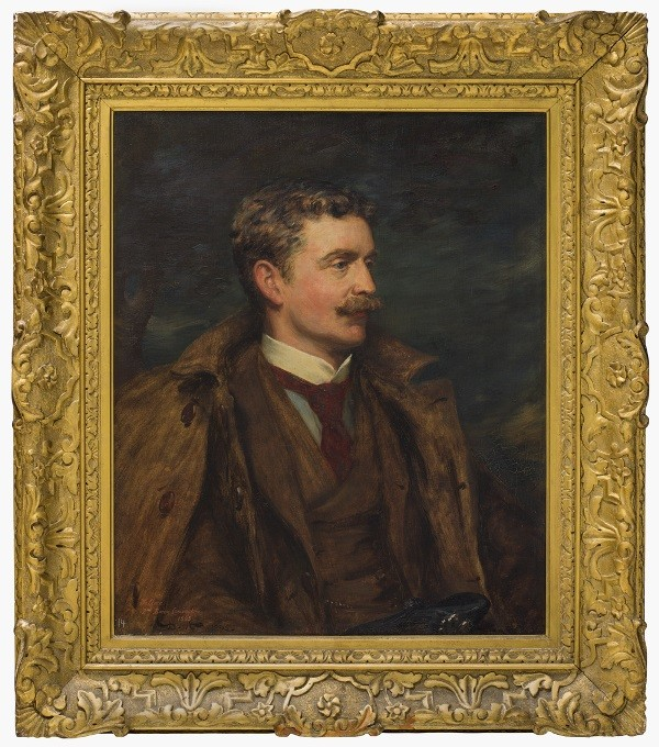 Portrait painting in gold frame of Charles Cochran-Baillie 2nd Baron Lamington Work of Art 1895 by Robert Duddingstone Herdman