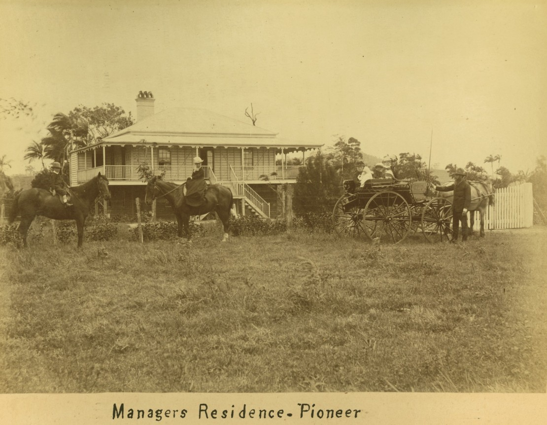 Managers residence at the Pioneer Sugar Plantation outside Mackay ca 1880