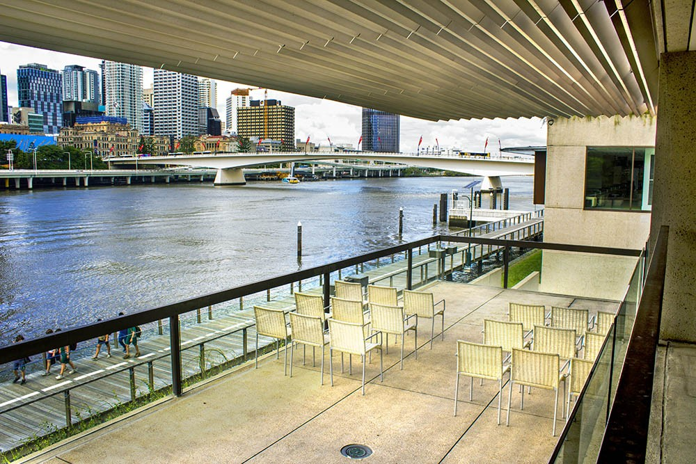 The Parlour Terrace overlooking Brisbane River