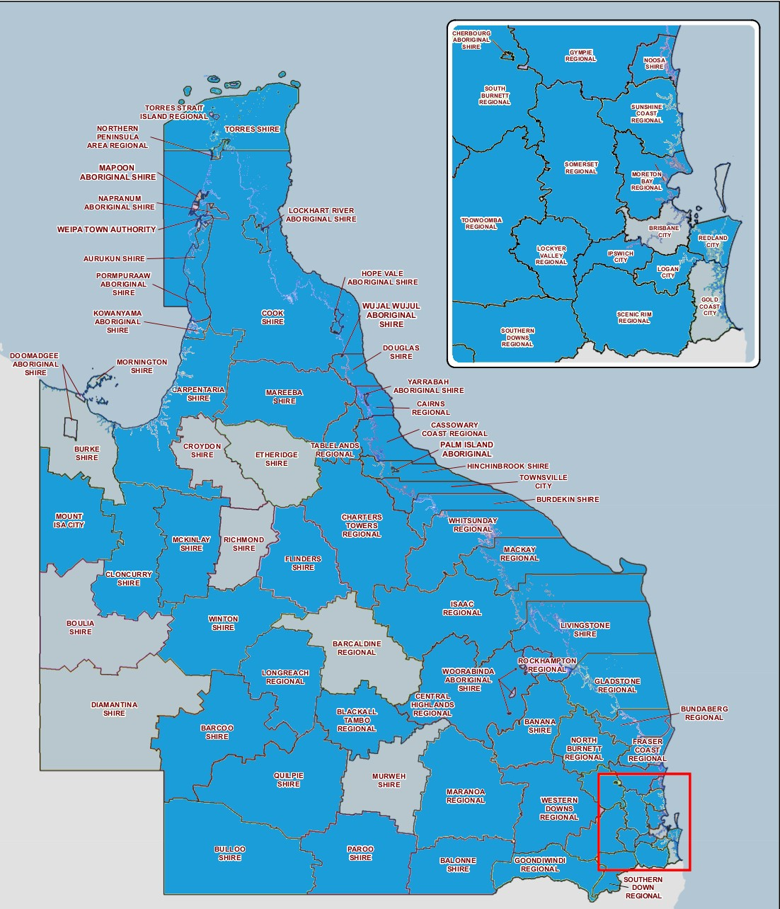 Participating Queensland Councils 2017