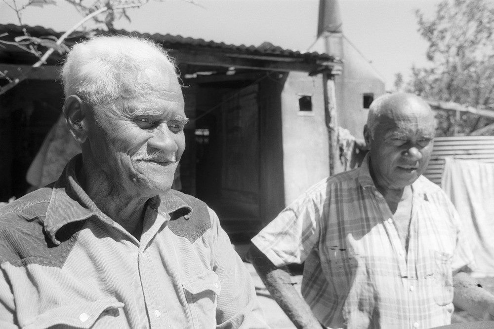 Percy and Roy Mooney outside their house in Habana near Mackay Queensland Image number 28873-0001-0008