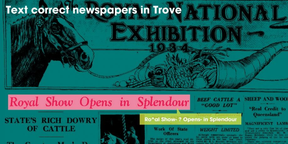 Pitch In Text Correct Queensland Newspapers in Trove