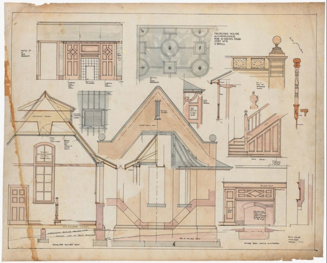 27671 Hall and Dods Architectural Drawings 1898-1984