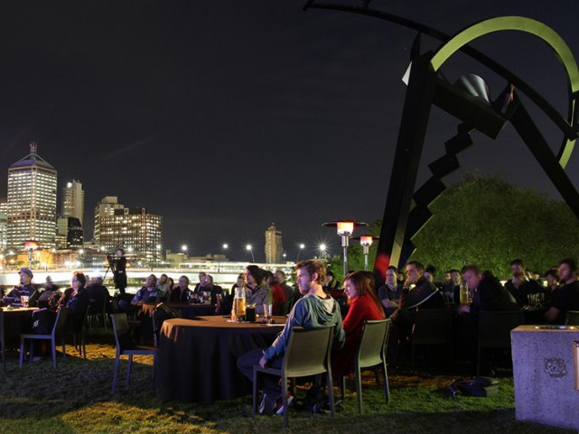Moonlight cinema on the River Plaza deck