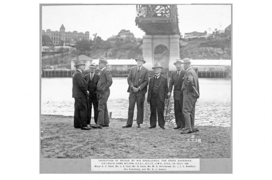 Inspection of Story Bridge 1938
