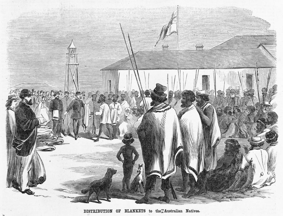 Illustration depiction of 1864 annual blanket day