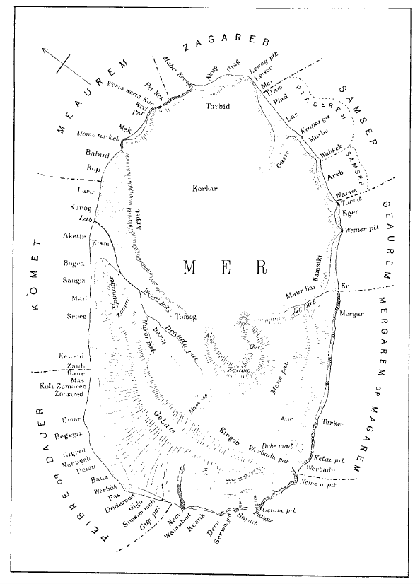Sketch map of the island of Mer Haddon