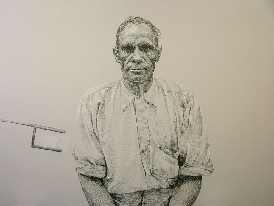 Vernon Ah Kee neither pride nor courage 2006 1 of 3 - The James C Sourris AM Collection Gift of James C Sourris through the Queensland Art Gallery Foundation 2007 Donated through the Australian Governments Cultural Gifts Program
