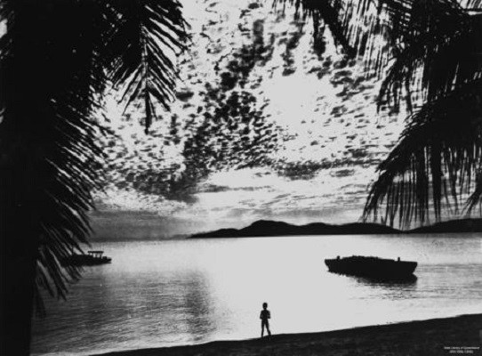 View of sunset from Palm Island ca 1949 John Oxley Library State Library of Queensland  Image no 53289