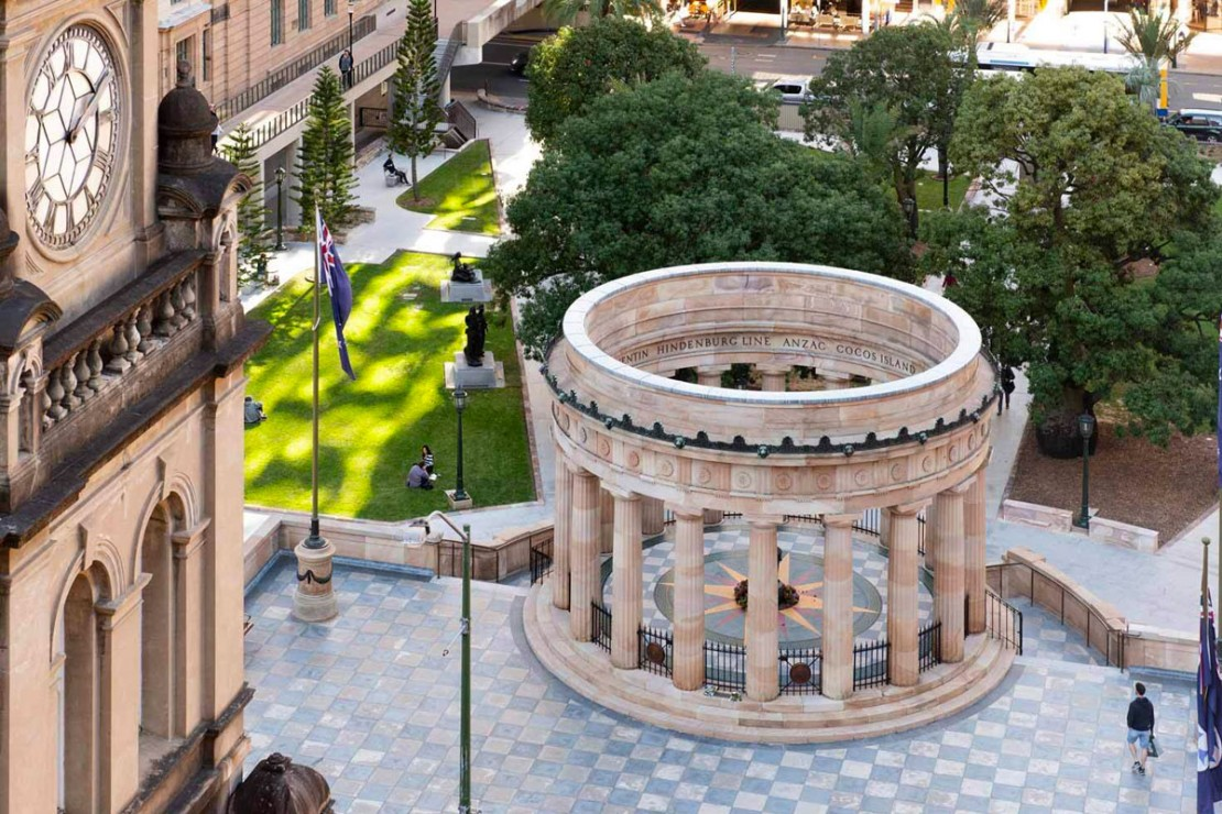 Birds eye view of Anzac Square