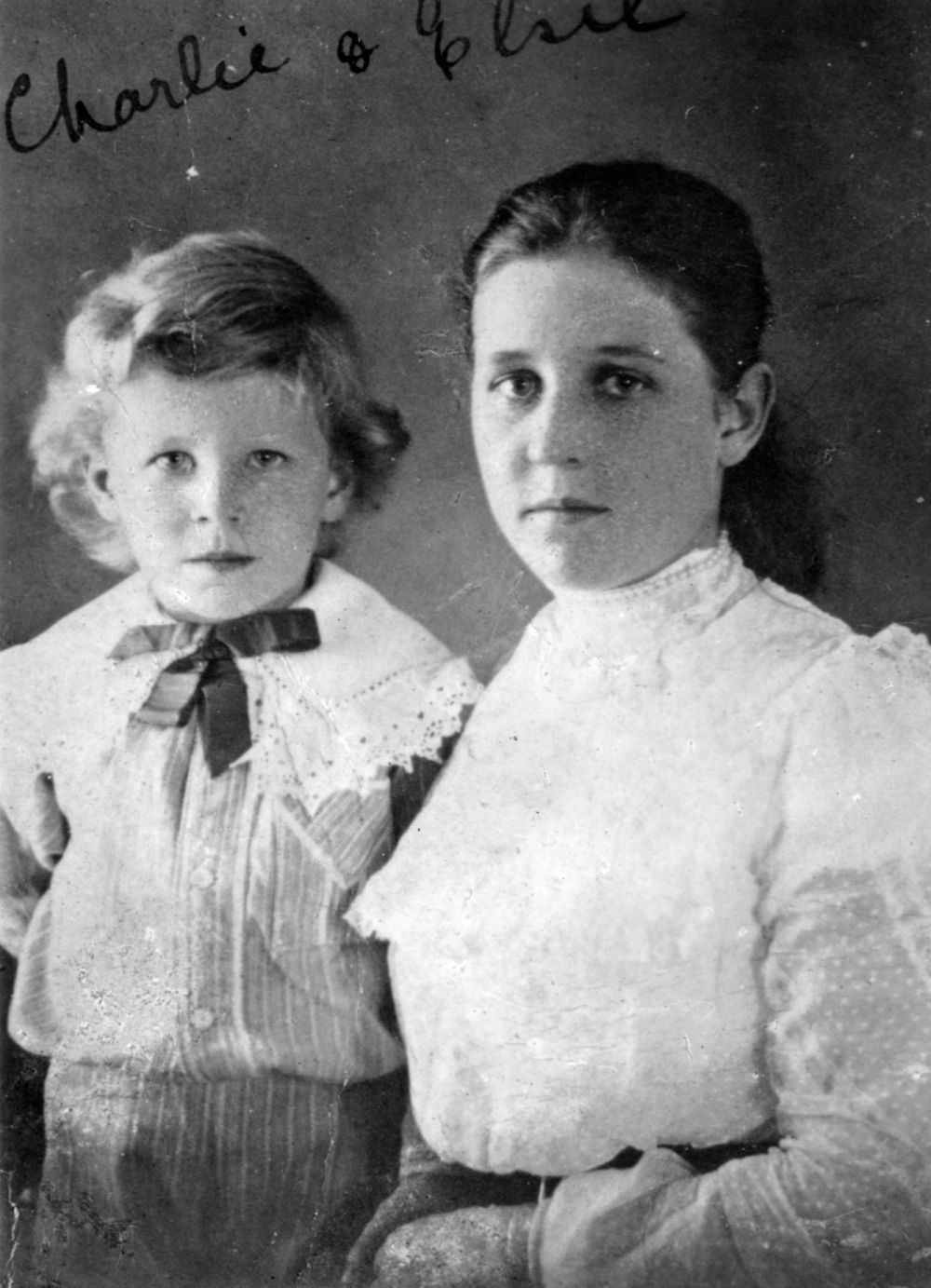 Charles Kingsford Smith as a small child with his sister Elsie Brisbane ca 1901