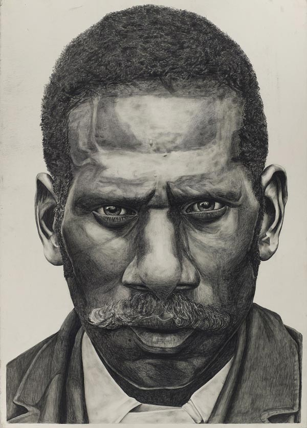 Dylan Mooney Stop and Stare Series 2018 Pencil and charcoal on paper John Oxley Library State Library of Queensland Accession no 31872
