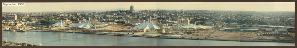 Panoramic views of the World Expo site 1986 This site was to be used as the Media Village for the 1992 Brisbane Olympics State Library of Queensland
