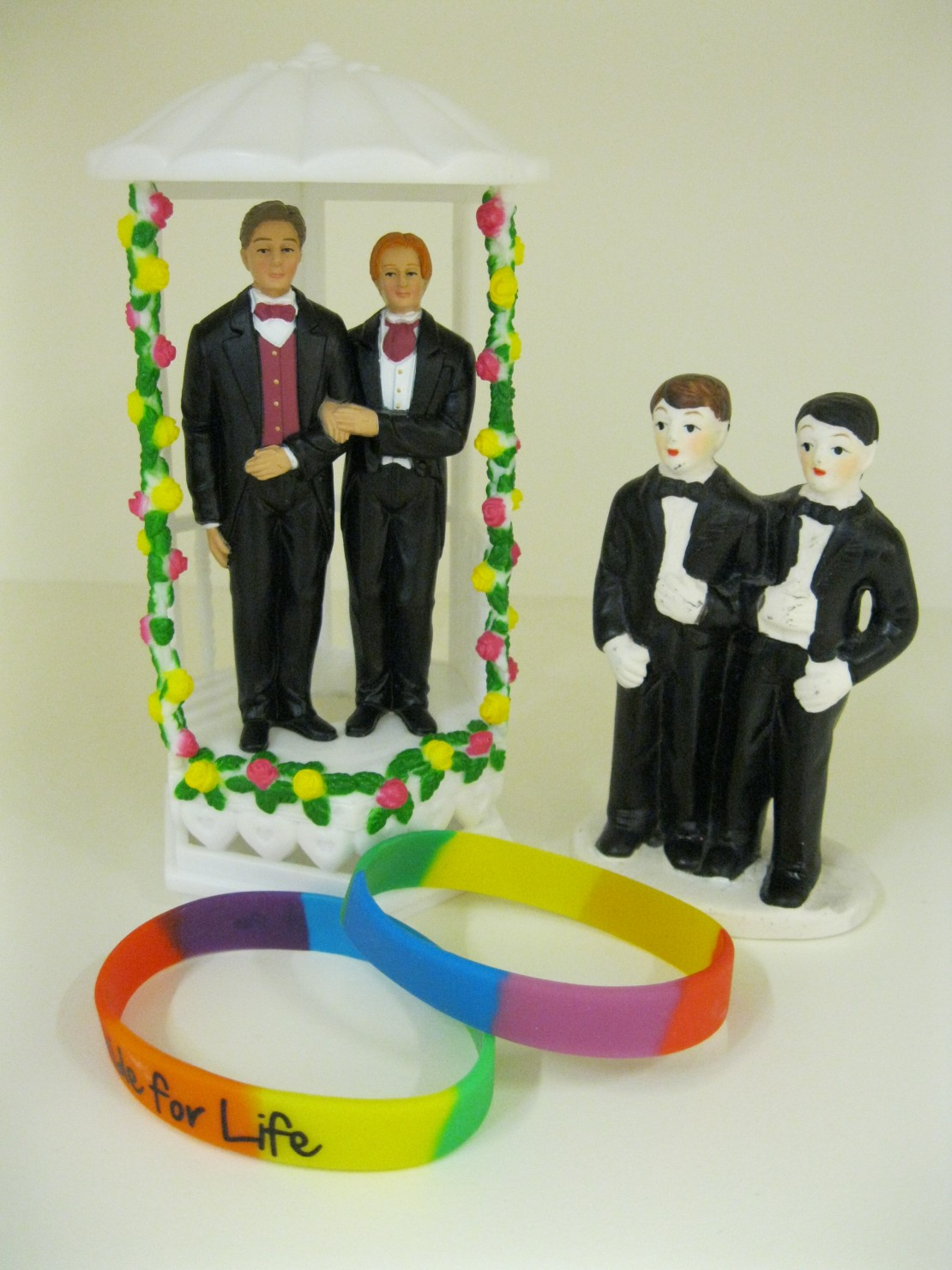 Groom and groom cake toppers from the Equal Love collection