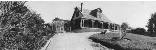 BW image of the original Rathdonnell House at Auchenflower Brisbane
