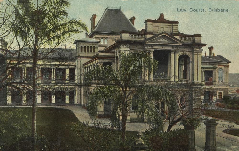 Postcard of Law Courts, Brisbane, ca.1902