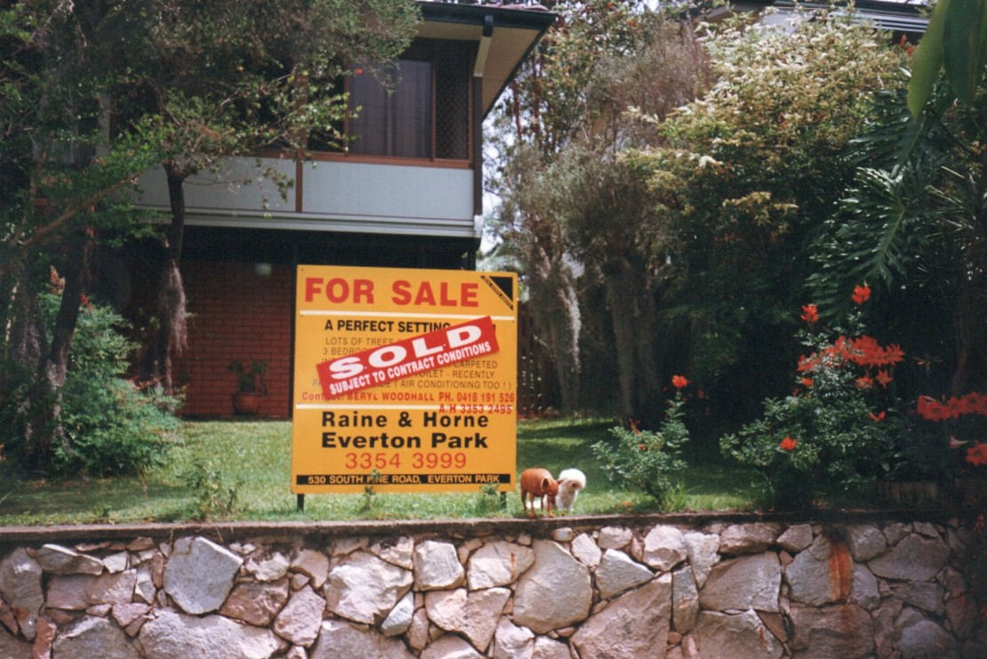 Everton Hills home 1999 and sold sign