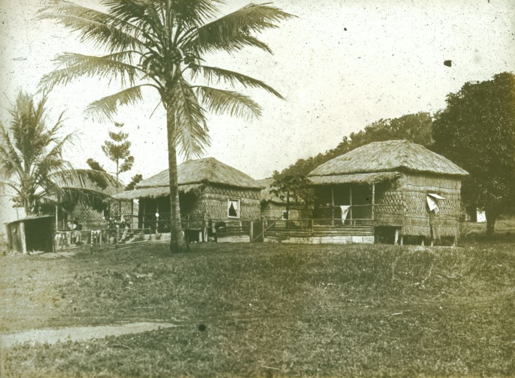 Black and white image of Yarrabah Mission in 1912